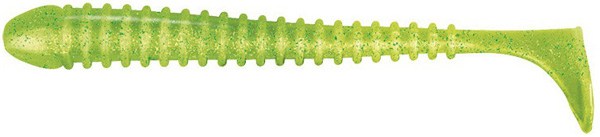 Jackson The Worm 10cm, 8 stuks! (keuze uit 8 opties) - Chartreuse