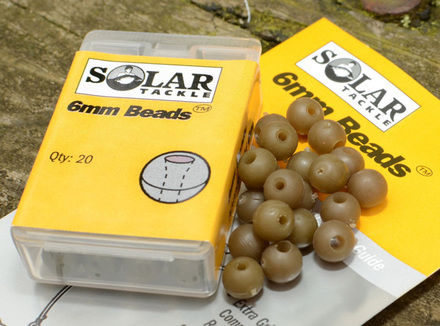 Solar 6mm Beads Green, 20 stuks!
