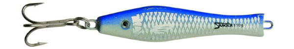 Aquantic 3D Holo Pilker 300g (Keuze uit 5 opties) - Blue / Silver