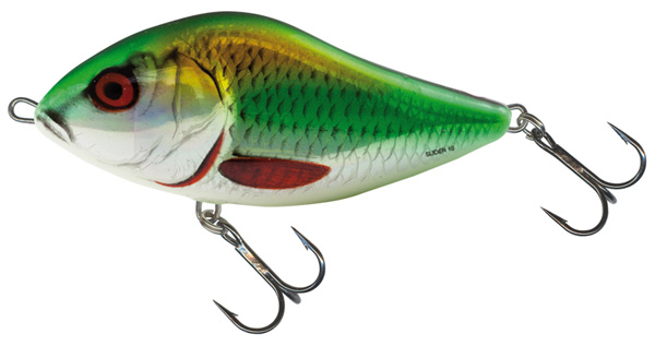Salmo Slider 12cm Floating (keuze uit 3 opties) - Holographic Green Roach (HGR)