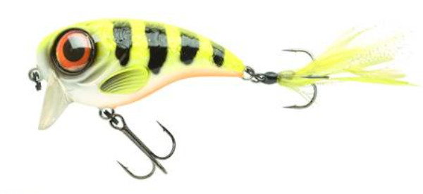 Spro Fat Iris 80 + Spro Stainless Wire Leaders (Keuze uit 12 opties) - Hot Perch