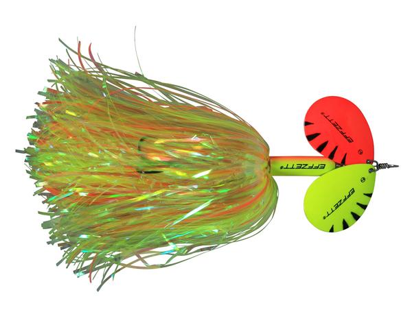 Effzett Pike Rattlin' Spinner (keuze uit 7 opties) - Fluo Yellow/Orange