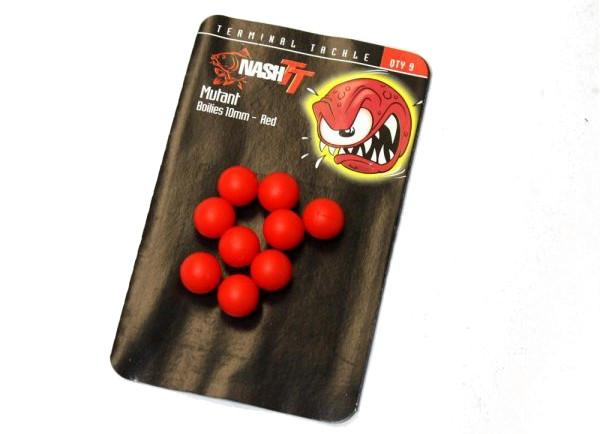 Nash Mutant Boilies (verkrijgbaar in verschillende diameters en kleuren) - Red