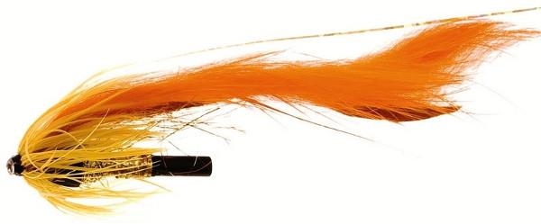 Unique Flies Jetstream Zonker, tubefly voor het vliegvissen op baars, roofblei en forel (keuze uit 6 opties) - Dirty Orange