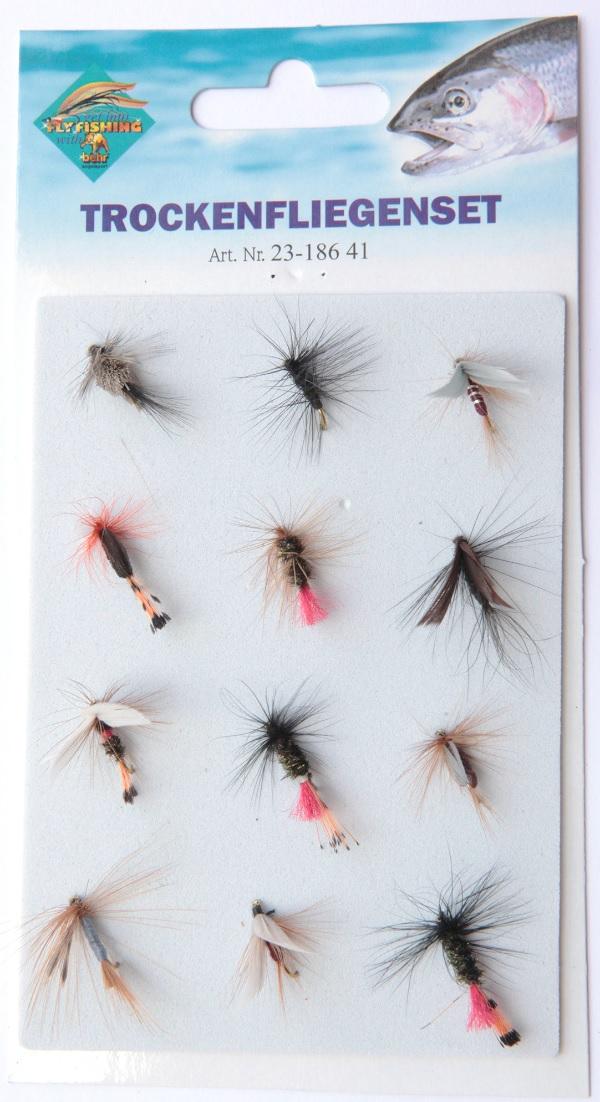 Behr Dry flies on card, 12 stuks!