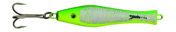 Aquantic 3D Holo Pilker 125g (Keuze uit 5 opties) - Green / Yellow