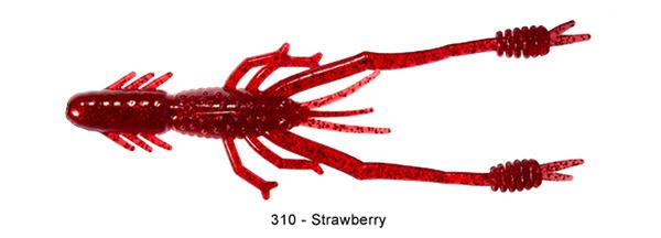 """Reins Ring Shrimp 4"""", 8 stuks (keuze uit 5 kleuren)"""