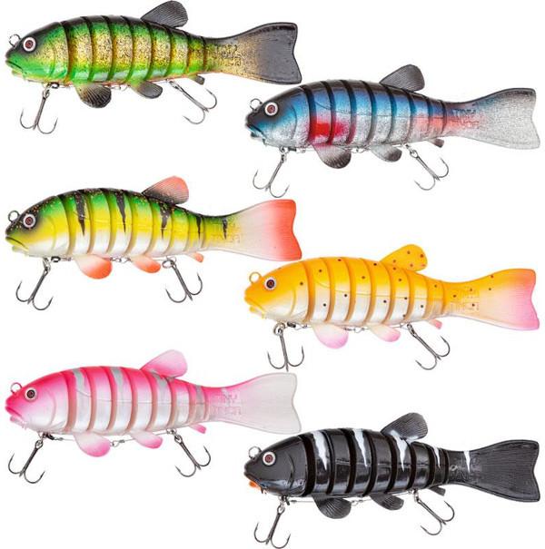 Quantum Tiny Tinca Swimbait (keuze uit 8 opties) - Linker rij, van boven naar beneden: Tench, Perch, Pink Perch