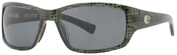 Lenz Optics Helmsdale Polarised Sunglasses (keuze uit 4 opties) - Green w/Grey Lens