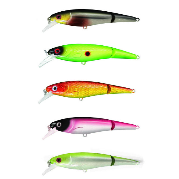 Predator-Z Jointed Shad (keuze uit 5 opties) - Vbnb: Black Hawk, Chartreuse Shad, Fire Shad, Purple Poison, Ayu Shad