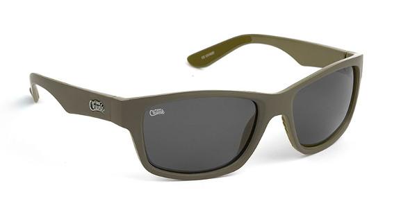 Fox Chunk Sunglasses (keuze uit 3 opties) - Khaki Frame/Grey Lens