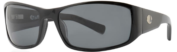 Lenz Optics Nordura Polarised Sunglasses (keuze uit 4 opties) - Black w/Grey Lens