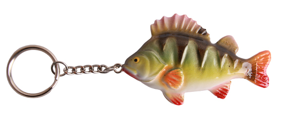 Real Trophy Sleutelhanger (keuze uit 7 vissoorten) - Perch