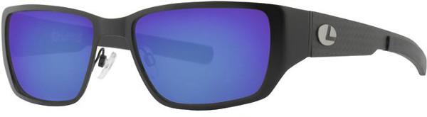 Lenz Optics Ponoi Polarised Sunglasses (keuze uit 2 opties) - Black w/Blue Mirror Lens