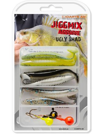 Darts Jiggmix Ugly Shad met softbaits en jigheads!