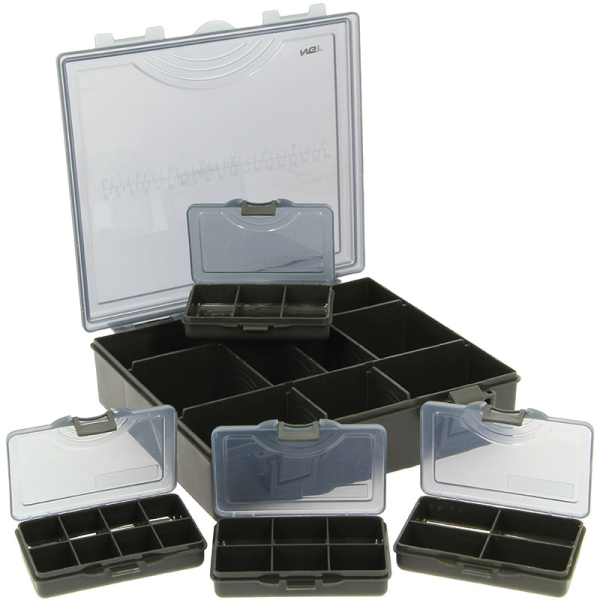 Carp Carryall Kit met Tacklebox, Dip Pots, Bit Boxes en meer!