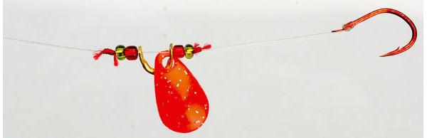 4 stuks Iron Trout Spin Rig (keuze uit 3 opties) - Red