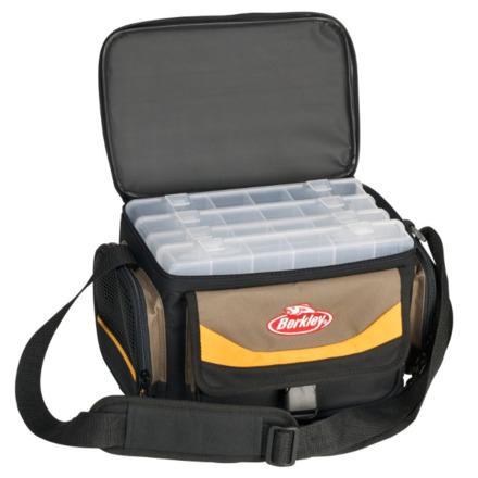 Berkley 4-Box Storer + 4 Tackleboxen