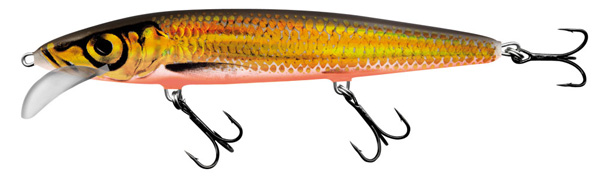 Salmo Whacky 12cm (keuze uit 5 opties) - Gold Chartreuse Shad (GCS)