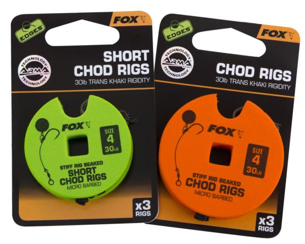 Fox Edges Ready Tied Chod Rigs (keuze uit 10 opties)