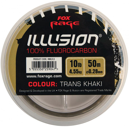 Fox Rage Illusion Fluorocarbon 50m (keuze uit 2 opties)