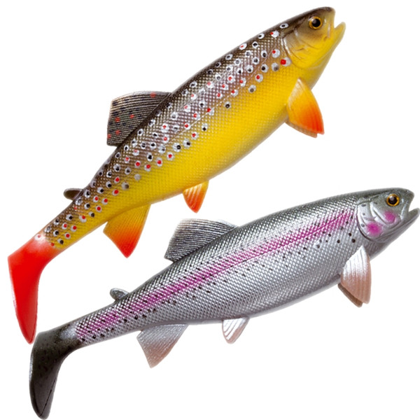 Jackson The Trout (keuze uit 6 opties) - Boven: Brown Trout. Onder: Rainbow Trout.