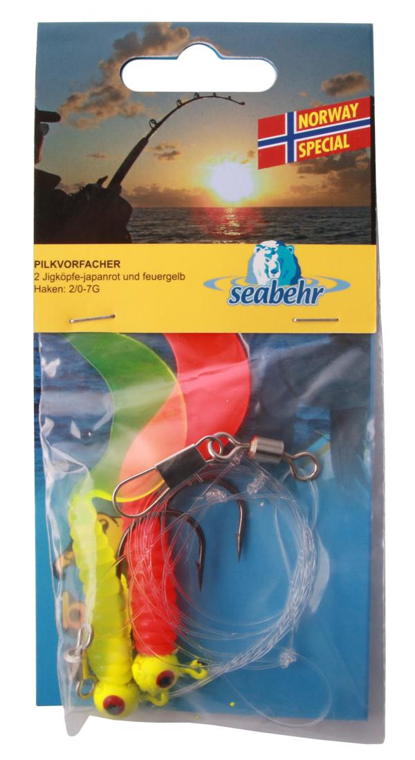 Seabehr Jighead Pilk System (keuze uit 2 opties) - Red/Yellow