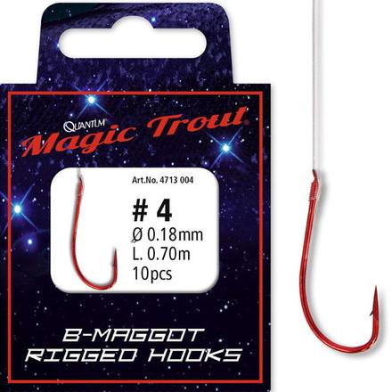 Quantum Magic Trout Maggot Rigged Hooks (Keuze uit 6 opties)
