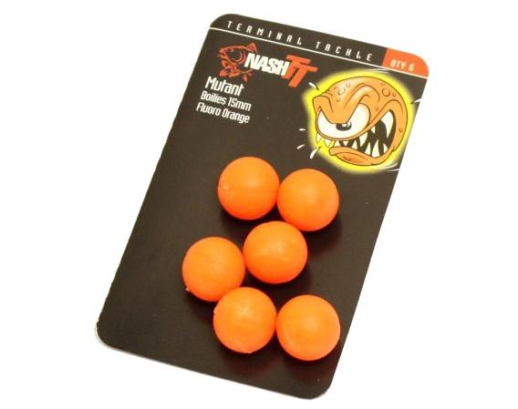 Nash Mutant Boilies (verkrijgbaar in verschillende diameters en kleuren) - Fluo Orange