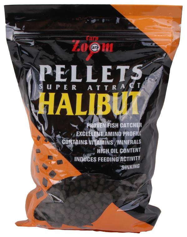 Carp Zoom Feeding Black Halibut Pellets 800gr (keuze uit 7 opties)