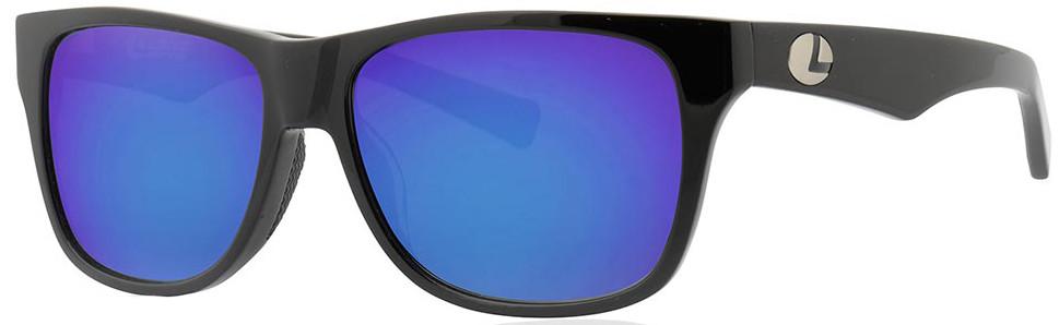 Lenz Optics Tay Polarised Sunglasses (keuze uit 4 opties) - Black w/Blue Mirror Lens