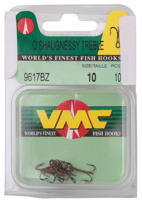 VMC 9617 O'Shaughnessy Treble dreggen size 10, 10 stuks