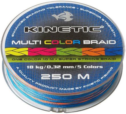 Kinetic Multi Color Braid 250m (keuze uit 2 opties)