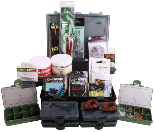 Medium Karper Tacklebox gevuld met End-Tackle van Korda, Nash, Rod Hutchinson, Ultimate en meer!