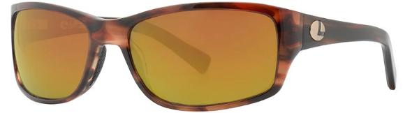 Lenz Optics Laxa Polarised Sunglasses (keuze uit 4 opties) - Havanna Gold w/Copper Mirror
