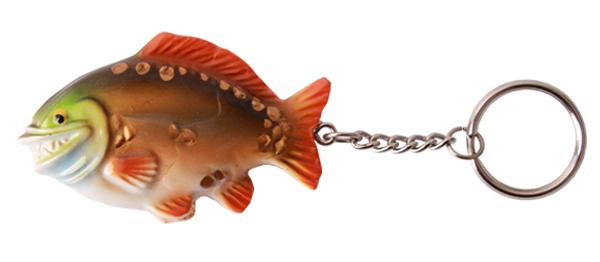 Real Trophy Sleutelhanger (keuze uit 7 vissoorten) - Smiling Carp