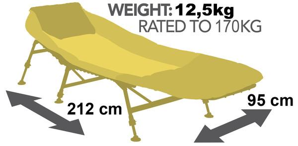JRC Extreme 4 Leg Bedchair
