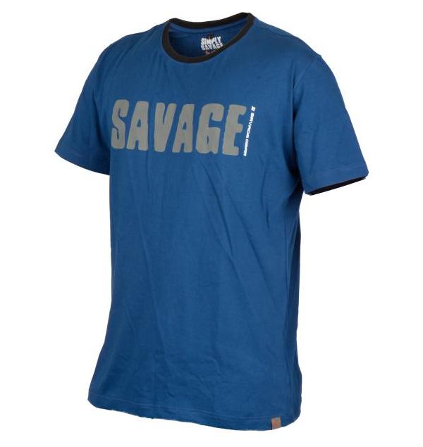 Savage Gear Simply Savage Tee Maat S t/m XXL (keuze uit 2 kleuren) - Blue