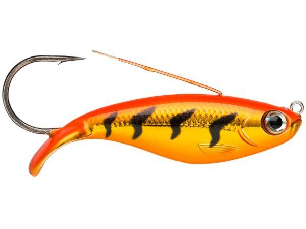 Rapala Weedless Shad (keuze uit 10 opties) - Gold Fluorescent Red Tiger