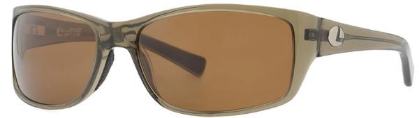 Lenz Optics Laxa Polarised Sunglasses (keuze uit 4 opties) - Clear Army/Silver w/Brown Lens