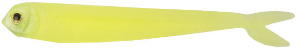 "Fishbelly Hawg Shads Split Tail 3,5"", 7 stuks (keuze uit 14 opties) - Clear Chartreuse"