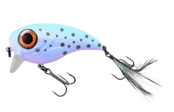 Spro Fat Iris 80 + Spro Stainless Wire Leaders (Keuze uit 12 opties) - Pearl Trout
