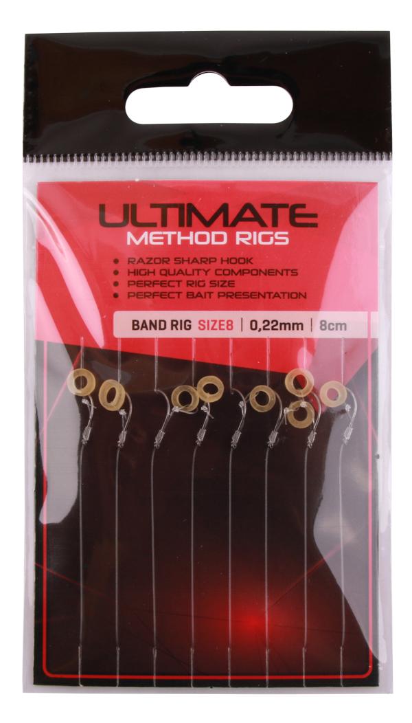 Ultimate Method Hair Baitband Rigs, 8 stuks (keuze uit 3 opties)