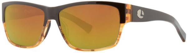 Lenz Optics Dee Polarised Sunglasses (keuze uit 4 opties) - Brown Tortoise w/Copper Mirror