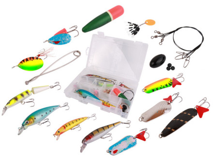 Ultimate Pike Set met kunstaas, takels, dobbers en meer!
