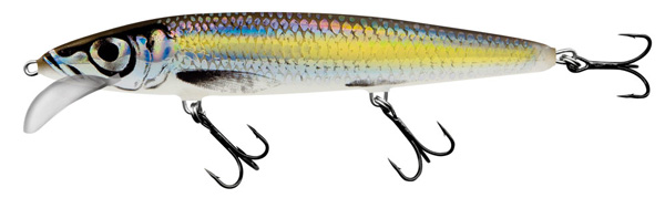 Salmo Whacky 12cm (keuze uit 5 opties) - Silver Chartreuse Shad (SCS)
