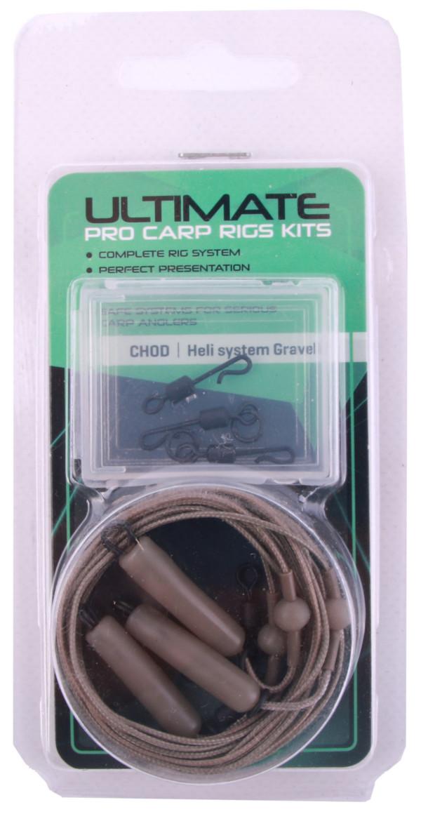 Ultimate Leadcore Heli-Rig Kit, 3 stuks! (beschikbaar in 2 kleuren) - Gravel