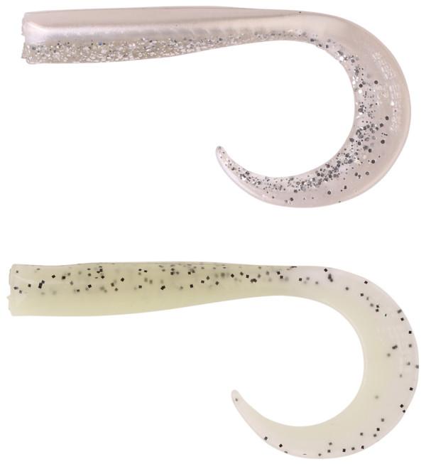 Savage Gear Sandeel Curltails (keuze uit 7 opties) - Boven: Pearlsilver