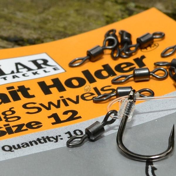 Solar Bait Holder Rig Swivels Size 12, 10 stuks!