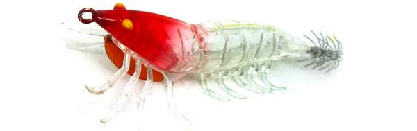 Savage Gear 3D Hybrid Shrimp Egi Jig (keuze uit 6 opties) - Red Head